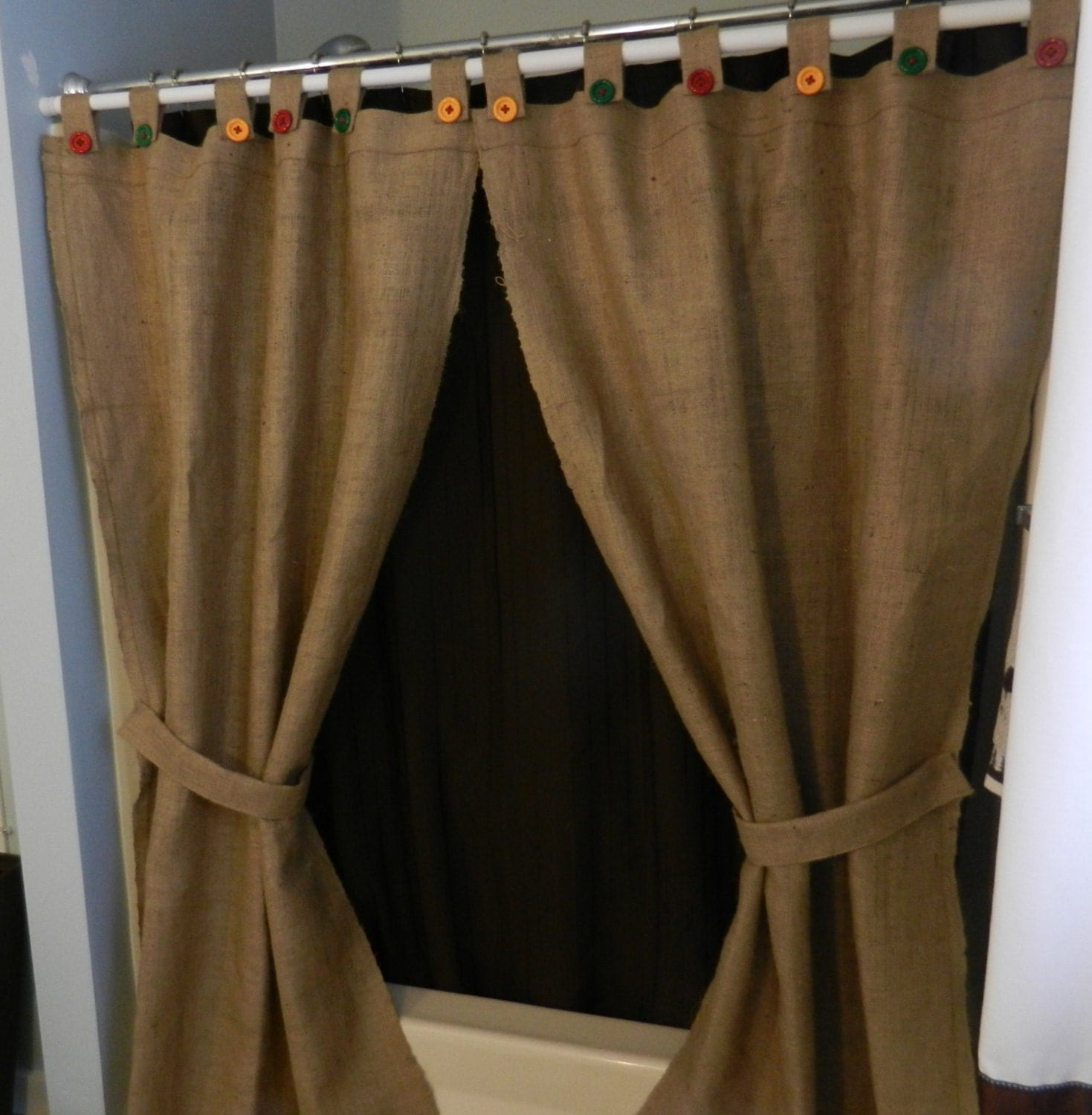 How to make tie top curtains - Tab Top Curtains With Buttons Zoom