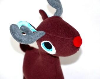 Stuffed Animal Soft Reindeer , soft safe chidren toy brown