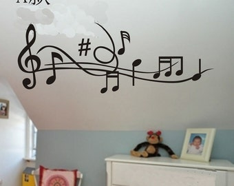 110x40cm Removable Music Note  Nature Vinyl Wall Paper Decal Art Sticker Q862
