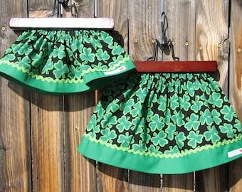 Sale... IRELAND Shamrock Twirl Skirt... size 12 months... ready to ship