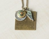 "An ""Always in my heart"" miscarriage rememberance necklace"