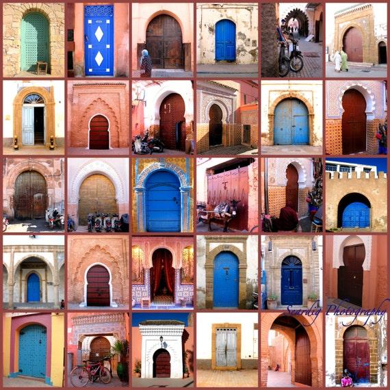 Portes marocaines photo collage decor marocain sur la toile for Decoration porte marocaine
