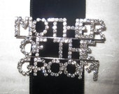 Mother of the Groom Rhinestone Pin