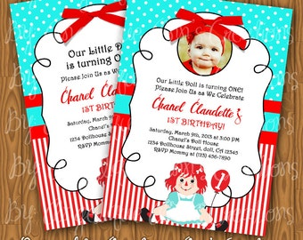 Raggedy Ann Invitations
