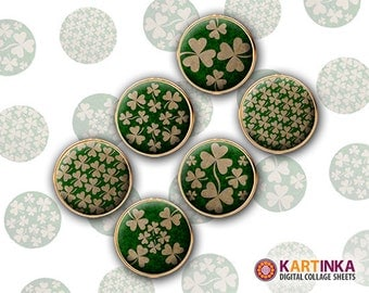 15mm 12mm Printable Images SHAMROCKS Digital Download for Earrings Cuff links Pendants Rings Bottle caps Crafting projects
