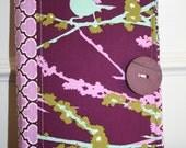 Poco Bella Portfolio - fabric notebook style folio complete w/  pen, paper, pockets