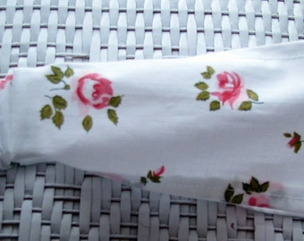 new RETRO HEADBAND VINTAGE pink roses shabby chic fabric rockabilly womens teens