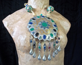 Fabulous Show Stopper Tribal Belly Dancer Necklace