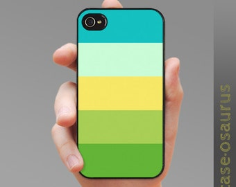 "iPhone 4 Stripes Case - ""Five Limey Friends"" for iPhone 6, iPhone 5/5s or iPhone 4/4s, Samsung Galaxy S6, Galaxy S5, Galaxy S4, Galaxy S3"