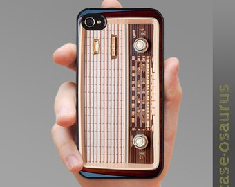 iPhone Case - Retro Radio for iPhone 6, iPhone 5/5s or iPhone 4/4s, Samsung Galaxy S6, Galaxy S5, Galaxy S4, Galaxy S3