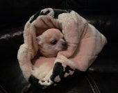 Camo & Tan Minky Pet Cuddle Bag