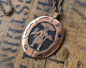 Solid Copper Kachina Doll Necklace