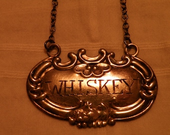 Sterling Silver Whiskey Liquor Tag