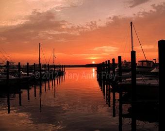 Belmar Marina Sunset