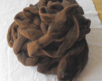 Alpaca Roving Spinning Fiber Fine Brown