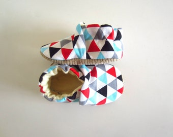 Geometric Triangle Baby Shoes