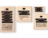 Banner Wedding Invitation Stamp Set