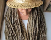 10 single ended knotty crocheted synthetic dread extensions natural look