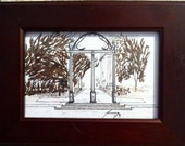 University of Georgia Arch near Downtown in Athens, Georgia Original Pen & Ink Drawing - Last 2 weeks at this SALE price
