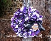 Ravens Baltimore Football Fabric/Rag Wreath Sports Team Wreath Customizable Team Wreath Made To Order Steelers Skins Cowboys Eagles