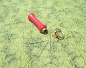 Bright Red Needle Case/Keychain