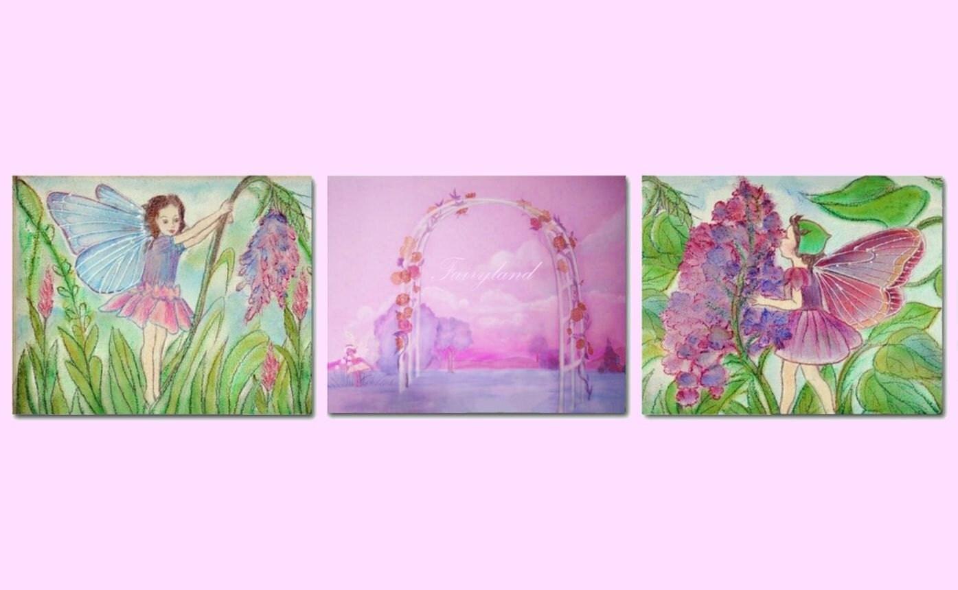 Fairy Nursery Fairyland Decor Set Of 3 Art Prints By