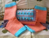 Southwestern pedicure socks with matching carrying pouch