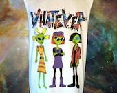 Unisex WHATEVER 90s Cartoon Alien Babes Muscle Tee // MTV Nickelodeon Jane Lane Cynthia Doll // FASHLIN