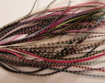 Scrap hair feather extensions  10 feathers