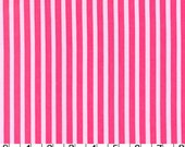 Clown Stripe Girl:  Tonal Hot Pink/ Pink Stripe. Michael Miller 1/2 Yard Cut