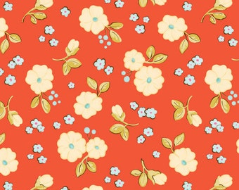 Calliope Floral in Coral from RIley Blake Fabrics 1 Yard Cut
