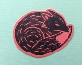 Hand Blockprinted Sticker - Red Fox