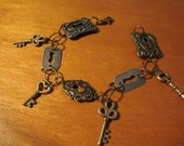 Key and Keyhole Charm Bracelet