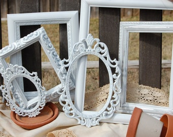 PICTURE FRAMES - Vintage Style Frame Collection - Nursery - Shabby Chic Decor