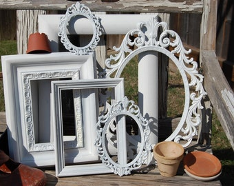 Set Of 6 Picture Frames / Shabby Chic Frames / Frame Collage / PICTURE FRAME