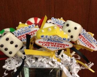 Vegas theme cake pops