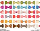 Bows Digital clip art for Personal and Commercial use - INSTANT DOWNLOAD