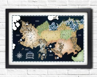 Game of Thrones - Essos Map - 19x13 Poster