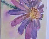 Purple flower Original ACEO Watercolour painting