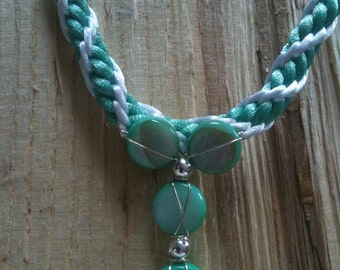 Seafoam Green and Sterling Silver Necklace