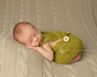 Newborn Mohair Romper / Pants - photo props olive, green, gray, brown, blue, tan