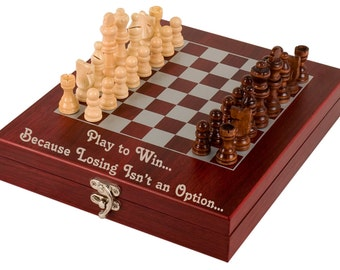 Custom Personalized Engraved Chess Set