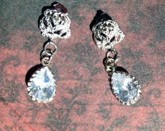 Anna Karenina Crystal Rose Earrings - Inspired by Keira Knightley's Anna Karenina
