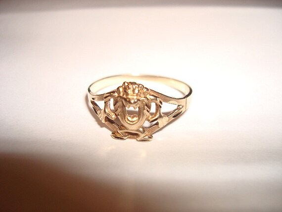 10kt gold taz ring new price