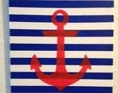 Acrylic Anchor Canvas Painting