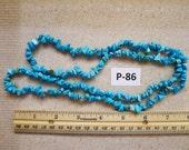 Very Pretty Blue Rocks  Beads P-86