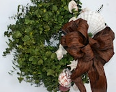 Wreath  -  Dried Flower Wreath  -  Eucalyptus Wreath - DyJoDesigns