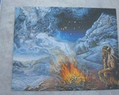 Native American Spirts Fire 11x14 Color Print 1980s