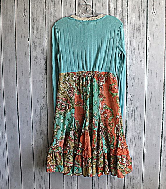 Women's Clothes / Upcycled Boho Funky Dress / Medium