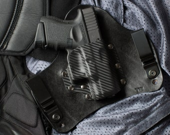Carbon Fiber Leather Kydex Hybrid Gun IWB Holster Glock 26 27 33 Limited Edition Concealed